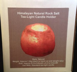 Himalayan Natural Rock Salt Tea-Light Candle Holder - box-front