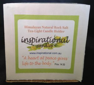Himalayan Natural Rock Salt Tea-Light Candle Holder - Top