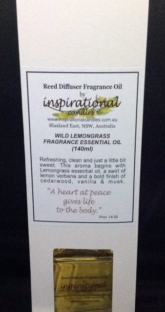 Wild Lemongrass Reed Diffuser 140ml